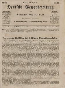 Deutsche Gewerbezeitung und Sächsisches Gewerbeblatt, Jahrg. X. Dienstag, 23. September, nr 76.