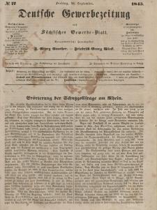 Deutsche Gewerbezeitung und Sächsisches Gewerbeblatt, Jahrg. X. Freitag, 26. September, nr 77.