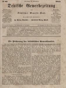 Deutsche Gewerbezeitung und Sächsisches Gewerbeblatt, Jahrg. X. Freitag, 17. Oktober, nr 83.