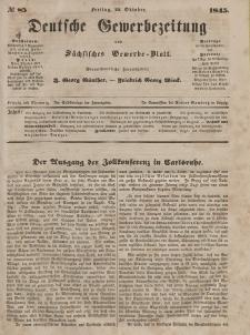 Deutsche Gewerbezeitung und Sächsisches Gewerbeblatt, Jahrg. X. Freitag, 24. Oktober, nr 85.
