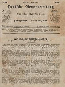 Deutsche Gewerbezeitung und Sächsisches Gewerbeblatt, Jahrg. X. Dienstag, 4. November, nr 88.