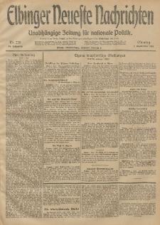 Elbinger Neueste Nachrichten, Nr. 239 Montag 1 September 1913 65. Jahrgang