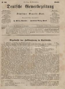 Deutsche Gewerbezeitung und Sächsisches Gewerbeblatt, Jahrg. X. Freitag, 14. November, nr 91.