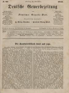 Deutsche Gewerbezeitung und Sächsisches Gewerbeblatt, Jahrg. X. Freitag, 21. November, nr 93.