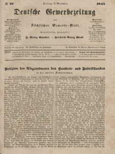 Deutsche Gewerbezeitung und Sächsisches Gewerbeblatt, Jahrg. X. Freitag, 5. Dezember, nr 97.