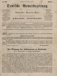 Deutsche Gewerbezeitung und Sächsisches Gewerbeblatt, Jahrg. X. Dienstag, 9. Dezember, nr 98.