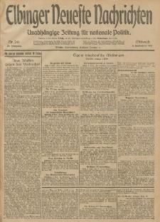 Elbinger Neueste Nachrichten, Nr. 241 Mittwoch 3 September 1913 65. Jahrgang