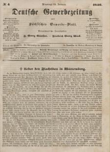 Deutsche Gewerbezeitung und Sächsisches Gewerbeblatt, 1846, Jahrg. XI, nr 4.