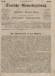 Deutsche Gewerbezeitung und Sächsisches Gewerbeblatt, 1846, Jahrg. XI, nr 15.