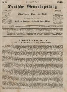Deutsche Gewerbezeitung und Sächsisches Gewerbeblatt, 1846, Jahrg. XI, nr 31.
