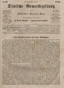 Deutsche Gewerbezeitung und Sächsisches Gewerbeblatt, 1846, Jahrg. XI, nr 32.
