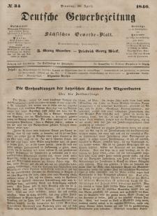 Deutsche Gewerbezeitung und Sächsisches Gewerbeblatt, 1846, Jahrg. XI, nr 34.