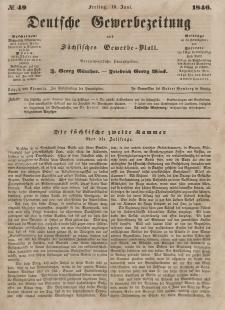 Deutsche Gewerbezeitung und Sächsisches Gewerbeblatt, 1846, Jahrg. XI, nr 49.