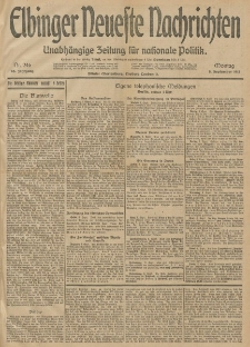 Elbinger Neueste Nachrichten, Nr. 246 Montag 8 September 1913 65. Jahrgang