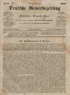 Deutsche Gewerbezeitung und Sächsisches Gewerbeblatt, Jahrg. XI. Freitag, 7. Juli, nr 54.