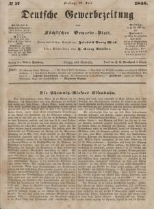 Deutsche Gewerbezeitung und Sächsisches Gewerbeblatt, Jahrg. XI. Freitag, 17. Juli, nr 57.