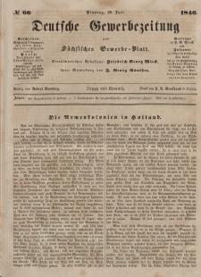 Deutsche Gewerbezeitung und Sächsisches Gewerbeblatt, Jahrg. XI. Dienstag, 28. Juli, nr 60.