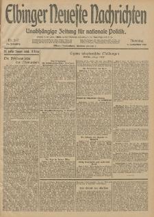 Elbinger Neueste Nachrichten, Nr. 247 Dienstag 9 September 1913 65. Jahrgang