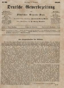 Deutsche Gewerbezeitung und Sächsisches Gewerbeblatt, Jahrg. XI. Freitag, 7. August, nr 63.