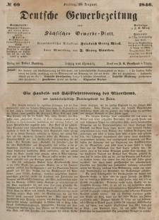 Deutsche Gewerbezeitung und Sächsisches Gewerbeblatt, Jahrg. XI. Freitag, 28. August, nr 69.