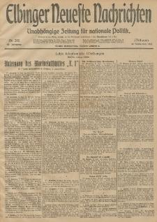 Elbinger Neueste Nachrichten, Nr. 248 Mittwoch 10 September 1913 65. Jahrgang