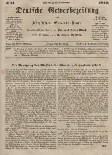 Deutsche Gewerbezeitung und Sächsisches Gewerbeblatt, Jahrg. XI. Dienstag, 15. September, nr 74.