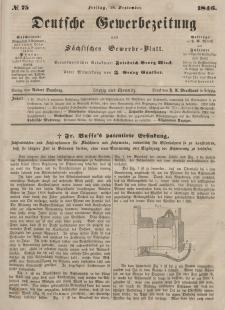 Deutsche Gewerbezeitung und Sächsisches Gewerbeblatt, Jahrg. XI. Freitag, 18. September, nr 75.
