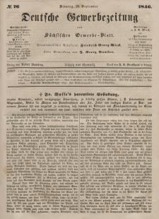 Deutsche Gewerbezeitung und Sächsisches Gewerbeblatt, Jahrg. XI. Dienstag, 22. September, nr 76.