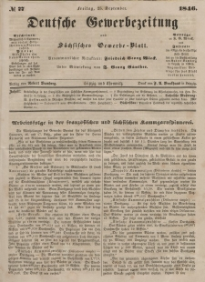 Deutsche Gewerbezeitung und Sächsisches Gewerbeblatt, Jahrg. XI. Freitag, 25. September, nr 77.