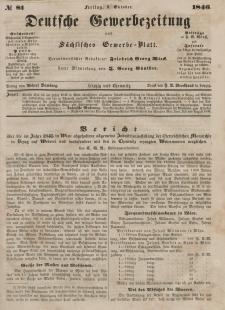 Deutsche Gewerbezeitung und Sächsisches Gewerbeblatt, Jahrg. XI. Freitag, 9. Oktober, nr 81.
