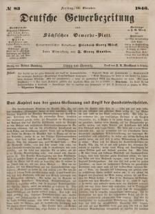 Deutsche Gewerbezeitung und Sächsisches Gewerbeblatt, Jahrg. XI. Freitag, 16. Oktober, nr 83.
