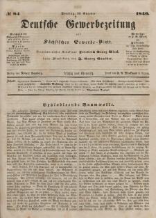 Deutsche Gewerbezeitung und Sächsisches Gewerbeblatt, Jahrg. XI. Dienstag, 20. Oktober, nr 84.