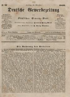Deutsche Gewerbezeitung und Sächsisches Gewerbeblatt, Jahrg. XI. Freitag, 30. Oktober, nr 87.