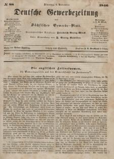 Deutsche Gewerbezeitung und Sächsisches Gewerbeblatt, Jahrg. XI. Dienstag, 3. November, nr 88.