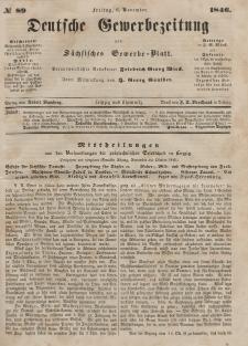 Deutsche Gewerbezeitung und Sächsisches Gewerbeblatt, Jahrg. XI. Freitag, 6. November, nr 89.