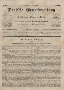 Deutsche Gewerbezeitung und Sächsisches Gewerbeblatt, Jahrg. XI. Freitag, 4. Dezember, nr 97.
