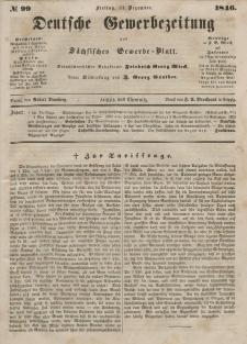 Deutsche Gewerbezeitung und Sächsisches Gewerbeblatt, Jahrg. XI. Freitag, 11. Dezember, nr 99.