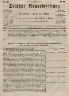 Deutsche Gewerbezeitung und Sächsisches Gewerbeblatt, Jahrg. XI. Freitag, 18. Dezember, nr 101.