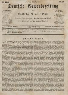Deutsche Gewerbezeitung und Sächsisches Gewerbeblatt, Jahrg. XI. Freitag, 25. Dezember, nr 103.