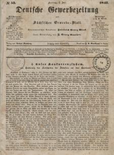 Deutsche Gewerbezeitung und Sächsisches Gewerbeblatt, Jahrg. XII, Freitag, 2. Juli, nr 53.