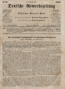 Deutsche Gewerbezeitung und Sächsisches Gewerbeblatt, Jahrg. XII, Freitag, 9. Juli, nr 55.