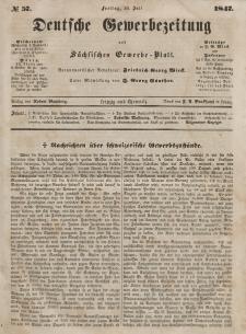 Deutsche Gewerbezeitung und Sächsisches Gewerbeblatt, Jahrg. XII, Freitag, 16. Juli, nr 57.