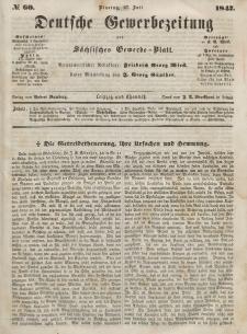 Deutsche Gewerbezeitung und Sächsisches Gewerbeblatt, Jahrg. XII, Dienstag, 27. Juli, nr 60.