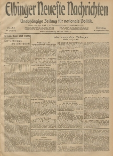 Elbinger Neueste Nachrichten, Nr. 254 Dienstag 16 September 1913 65. Jahrgang