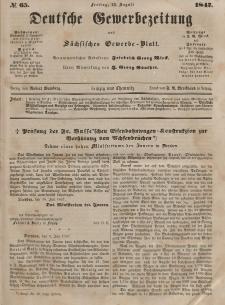 Deutsche Gewerbezeitung und Sächsisches Gewerbeblatt, Jahrg. XII, Freitag, 13. August, nr 65.