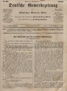 Deutsche Gewerbezeitung und Sächsisches Gewerbeblatt, Jahrg. XII, Dienstag, 17. August, nr 66.