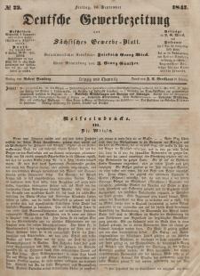 Deutsche Gewerbezeitung und Sächsisches Gewerbeblatt, Jahrg. XII, Freitag, 10. September, nr 73.