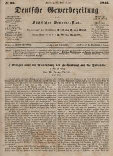 Deutsche Gewerbezeitung und Sächsisches Gewerbeblatt, Jahrg. XII, Freitag, 19. November, nr 93.