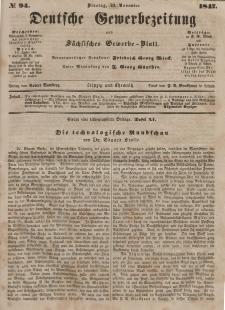 Deutsche Gewerbezeitung und Sächsisches Gewerbeblatt, Jahrg. XII, Dienstag, 23. November, nr 94.