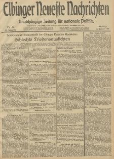 Elbinger Neueste Nachrichten, Nr. 44 Freitag 14 Februar 1913 65. Jahrgang